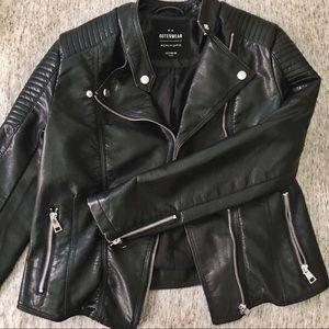 NWOT black moto jacket